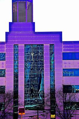 Building In Purple Art Print by Gillis Cone