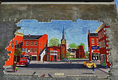 Photograph - Building Mural - Cuba New York 001 by George Bostian