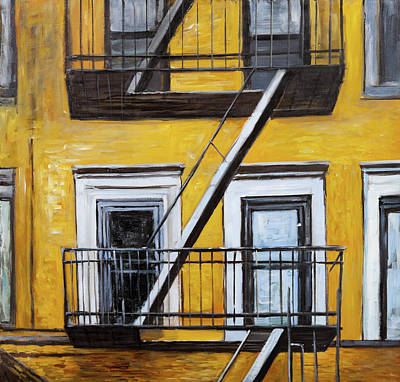 Ramp Painting - Building Old Fire Escape by Atelier B Art Studio