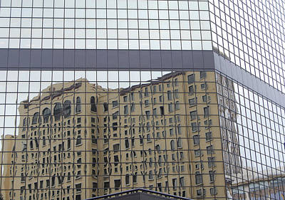 Building Reflection Art Print by Jean Booth