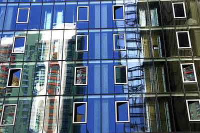 Photograph - Building Reflections 7 by Allen Beatty