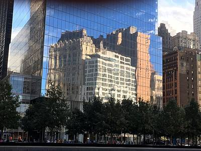 Photograph - Building Reflections by Val Oconnor