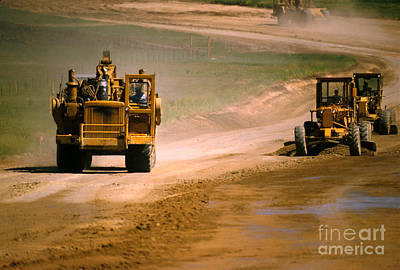 Construction Photograph - Building Road by Jerry McElroy