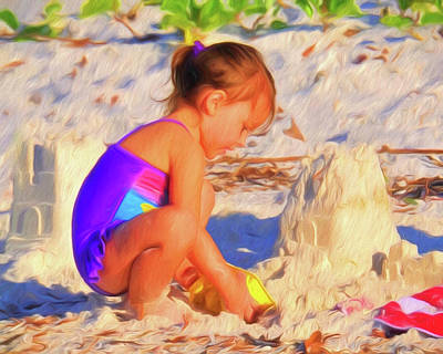 Photograph - Building Sand Castles by Ginger Wakem