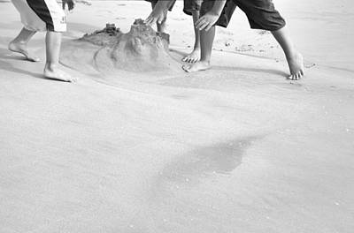 Photograph - Building Sandcastles by Theresa Tahara