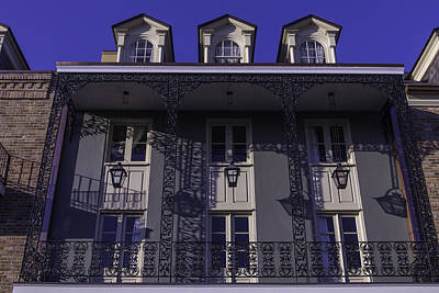 Nola Photograph - Building Shadows French Quarter by Garry Gay