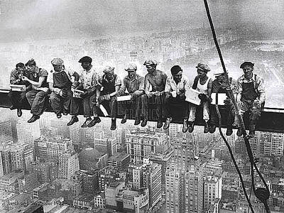 Photograph - Building The Empire State Building by Merton Allen