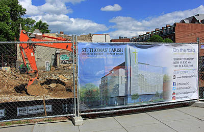 Photograph - Building The New St. Thomas Parish Nearly Fifty Years After The Fire by Cora Wandel