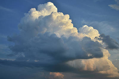Photograph - Building Thunderhead Over Mchenry Illinois by Ray Mathis