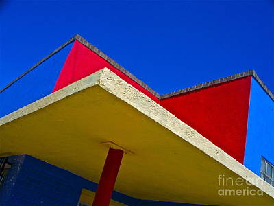 Chicano Photograph - Building Turns Itself Into Mondrian by Chuck Taylor