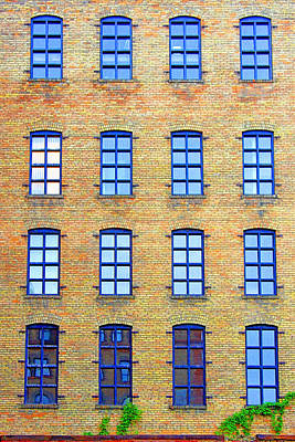 Photograph - Building Windows by David Ralph Johnson