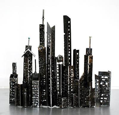 Sculpture - Buildings 3 by Don Thibodeaux