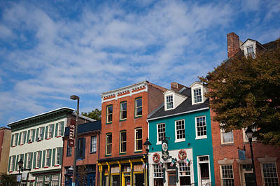 Fells Point Photograph - Buildings Along A Street, Thames by Panoramic Images
