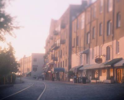Buildings At The Roadside, Savannah Art Print by Panoramic Images