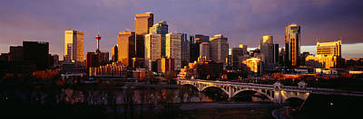 Buildings At The Waterfront, Bow River Print by Panoramic Images