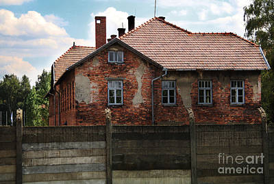 Concentration Digital Art - Buildings In Auschwitz by Chris Evans
