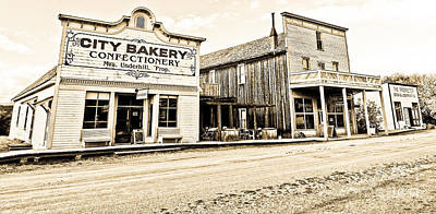Buildings In The Eighteen Hundreds Town Of Fort Steele Bc Canada Art Print by Emilio Lovisa