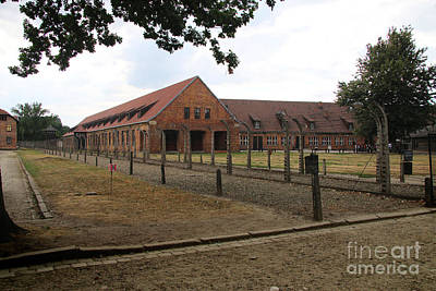 Concentration Digital Art - Buildings Of Auschwitz  by Chris Evans