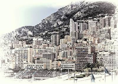 Photograph - Buildings Of Monte Carlo by Jenny Hudson