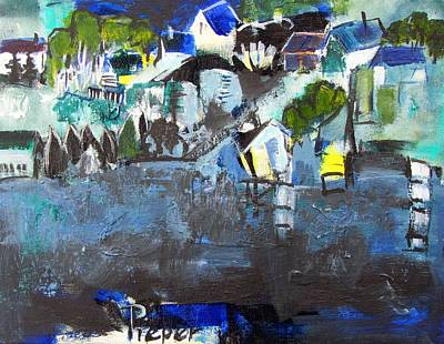 Painting - Buildings On A Bay by Betty Pieper