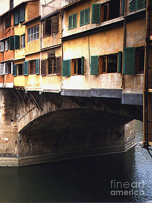 Photograph - Buildings On The Ponte Vecchio - Florence, Italy by Merton Allen