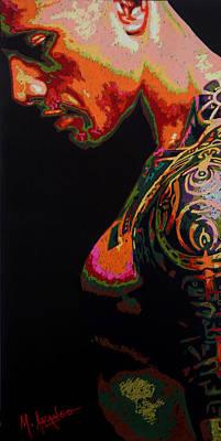 Samoan Painting - Built Like A Rock by Maria Arango