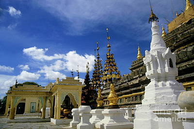Medieval Temple Photograph - Built Structures Inside Shwezigon Pagoda by Sami Sarkis
