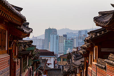 Roads Photograph - Bukchon Hanok Village Contrast by James BO Insogna