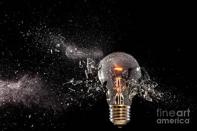 Photograph - Bulb Glass Explosion by Gualtiero Boffi