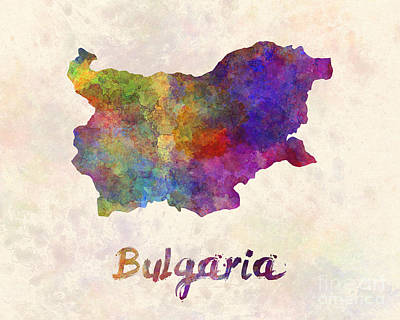 Bulgaria In Watercolor Art Print by Pablo Romero