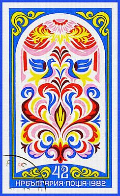 Bulgaria Shows 19 Century Fresco 1 Art Print