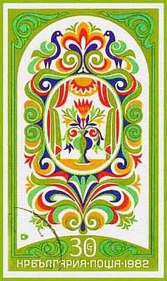 Bulgaria Shows 19 Century Fresco 2 Art Print