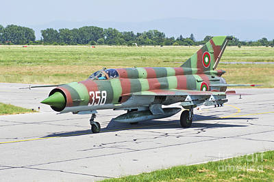 Jet Star Photograph - Bulgarian Air Force Mig-21 Taxiing by Daniele Faccioli