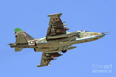 Jet Star Photograph - Bulgarian Air Force Su-25 Taking Off by Daniele Faccioli