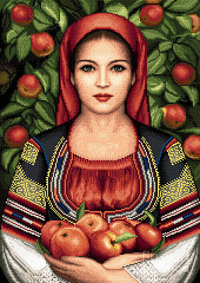 Tapestry - Textile - Bulgarian Girl From Kyustendil by Stoyanka Ivanova