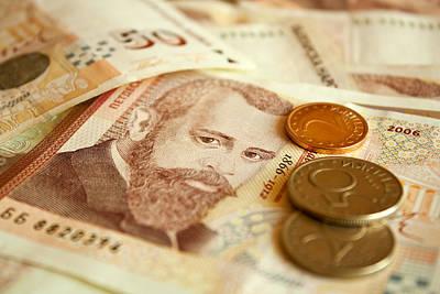 Exchange Mixed Media - Bulgarian Money by Boyan Dimitrov