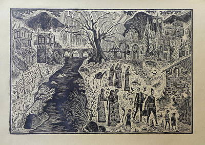 Bulgarian Village Art Print by Milen Litchkov