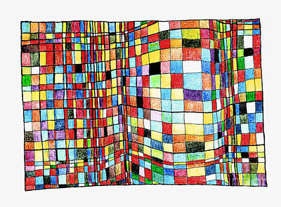 Abstract Shapes Drawing - Bulge by Andy  Mercer
