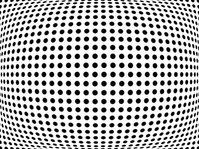 Optical Illusion Digital Art - Bulge Dots by Michael Tompsett
