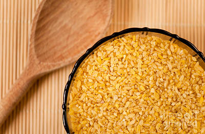 Bulgur Wheat Groats Closeup Art Print by Arletta Cwalina