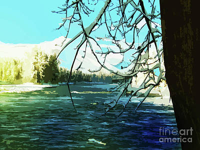 Photograph - Bulkley River, Dead Of Winter by Anne Havard
