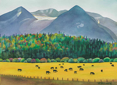 Painting - Bulkley Valley Cows by Anne Havard
