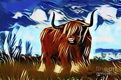Photograph - Bull 20318 by Ray Shrewsberry