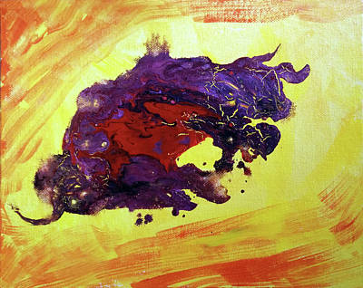 Painting - Bull Abstract by Asha Sudhaker Shenoy