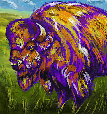 Painting - Bull Buffalo by Tim Gilliland