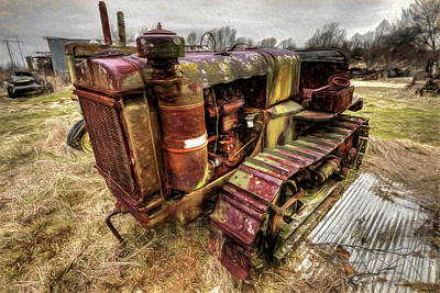 Digital Art - Bull Dozer by Joe Sparks