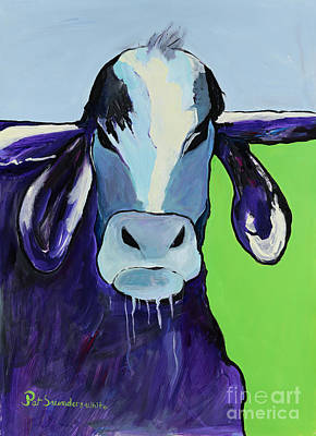 Bull Drool Art Print by Pat Saunders-White