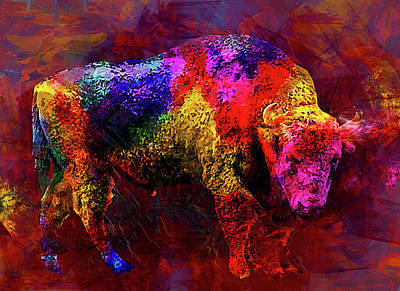 Bull Art Print by Elena Kosvincheva