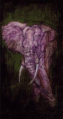 Mixed Media - Bull Elephant by Sam Arneson