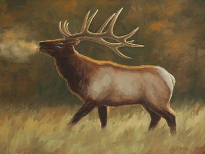 Wall Art - Painting - Bull Elk by Guy Crittenden